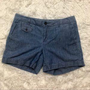 Banana Republic size 4 chambray shorts